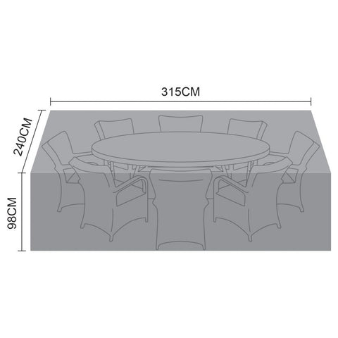 Cover for 8 Seat Oval Dining Set - 315cm x 240cm x 98cm