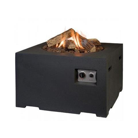 Happy Cocooning - Gas Fire Pit - Square 760 x 760 x 460mm Black