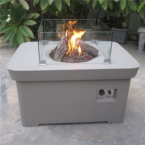 Maze - Patio Flame Table - Taupe (Code:6953)