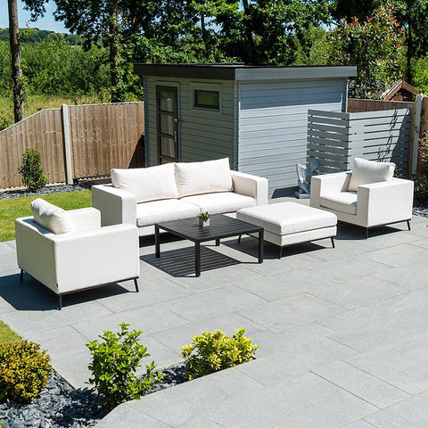 Nova - Ego Outdoor Fabric 2 Seater Sofa Set with Coffee Table and Footstool