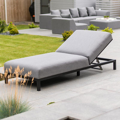 Nova - Sunny Outdoor Fabric Multi-Position Lounger - Flanelle