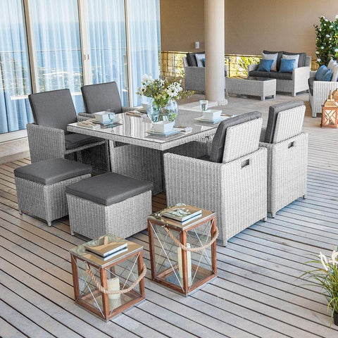 Heritage Rattan Cube Dining Set - 4 Seat