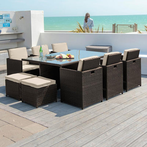 6 Seat Deluxe Cube Set with Footstools