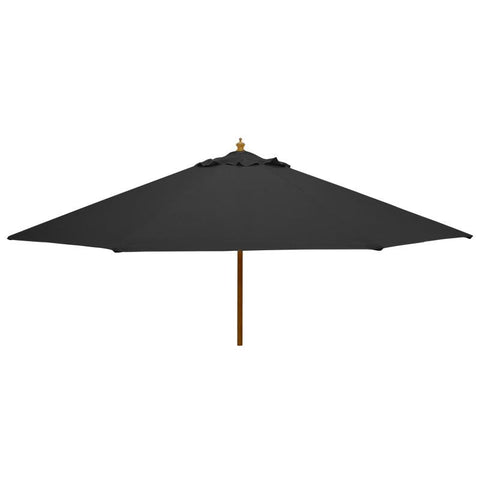 3m Round Wooden Garden Parasol - Pulley Operated