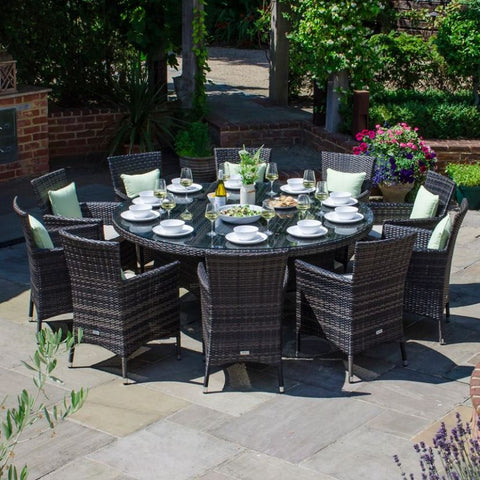 Amelia 10 Seat Dining Set - 1.8m Round Table