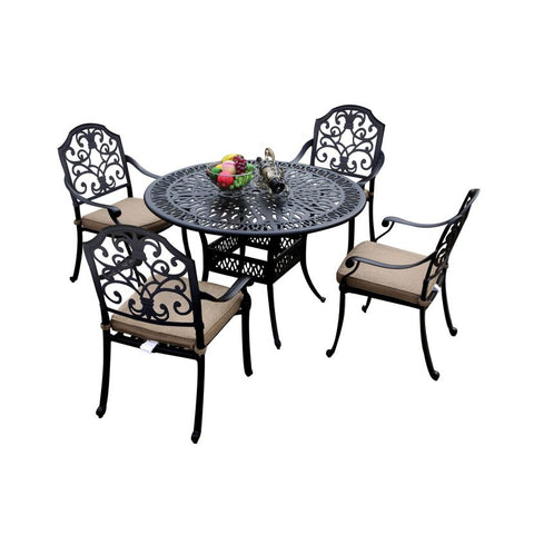 Cotswold 4 Seat Round Dining Set - 1.2m Round Table