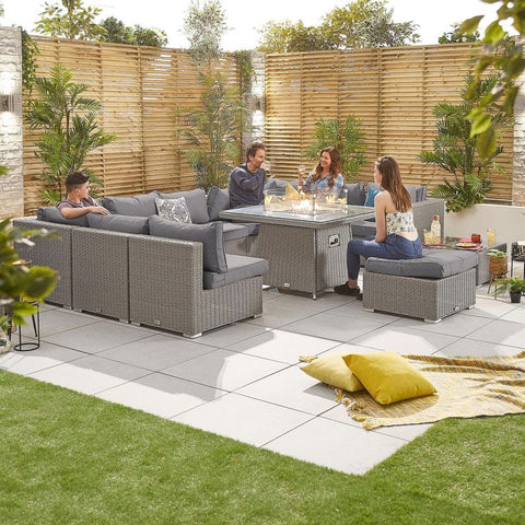Chelsea 3C Rattan Corner Sofa Set with Firepit Table