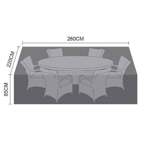Cover for 6 Seat Oval Dining Set - 260cm x 220cm x 85cm