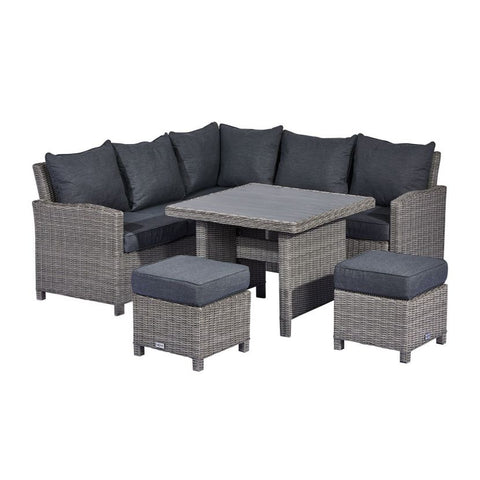 Compact Ciara Casual Dining Corner Sofa Set with Polywood Table