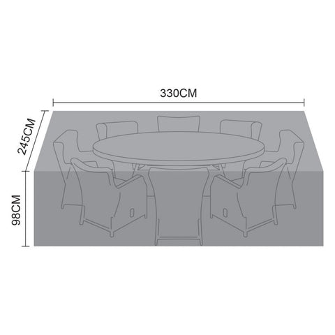 Cover for Carolina 8 Seat Oval Dining Set - 330cm x 245cm x 98cm