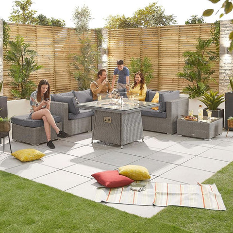 Heritage Chelsea 1C Corner Sofa Set with Firepit Table