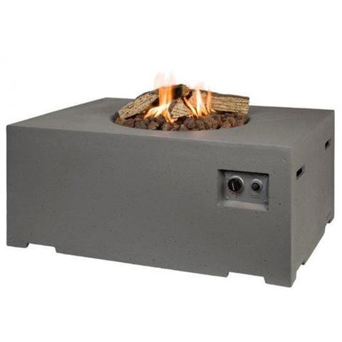 Happy Cocooning - Gas Fire Pit - Rectangular 1070 x 800 x 460mm Taupe (Code:8734)