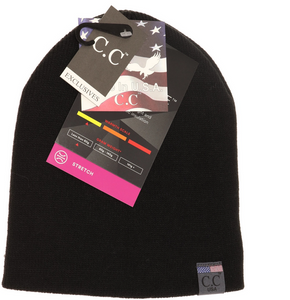 Black Unisex Knit Beanie MADE IN USA