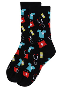 Women's Doctor/Nurse Pattern Novelty Socks