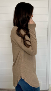 The Sara Tunic- Mocha