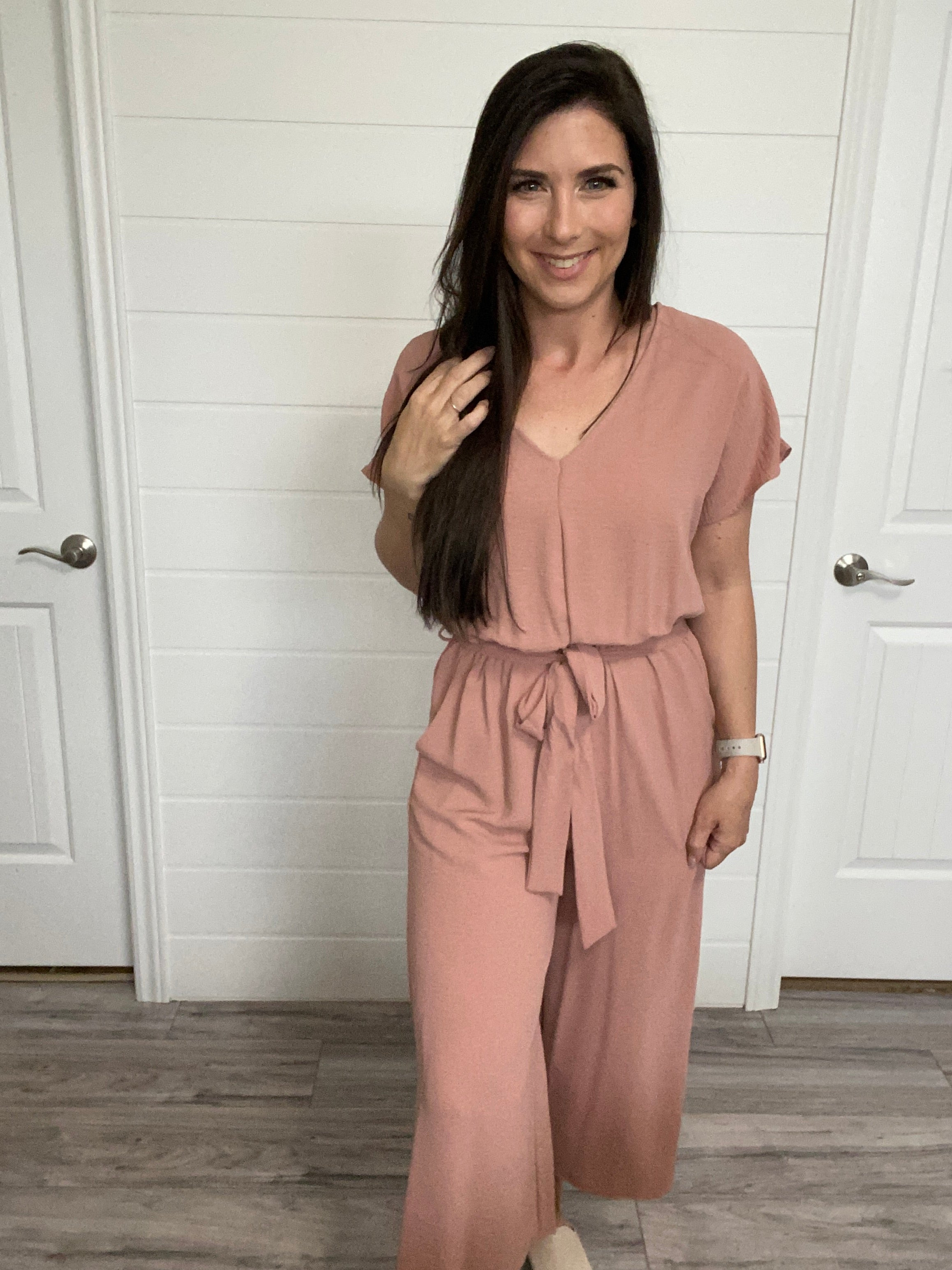 The Amy Jumpsuit - Dusty Rose