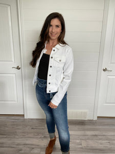 White Jean Jacket- Kancan