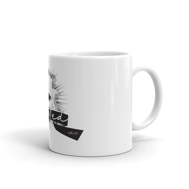 Seated 1 Black White Print Mug