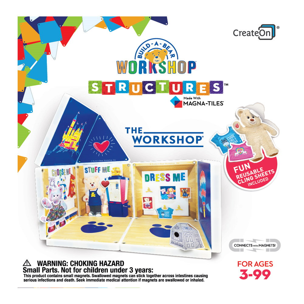 The Workshop, set cu autocolante, Magna-Tiles Structures CreateOn