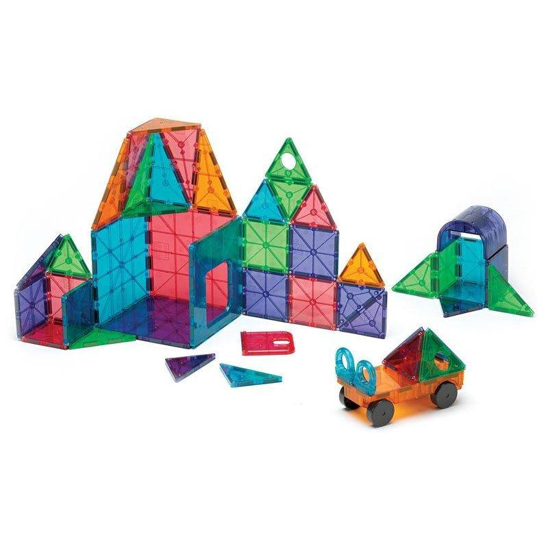 Magna-Tiles Clear Colors set magnetic 48 piese - copilaresti.ro