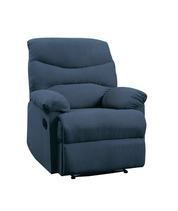 Arcadia Blue Woven Fabric Recliner (Motion)
