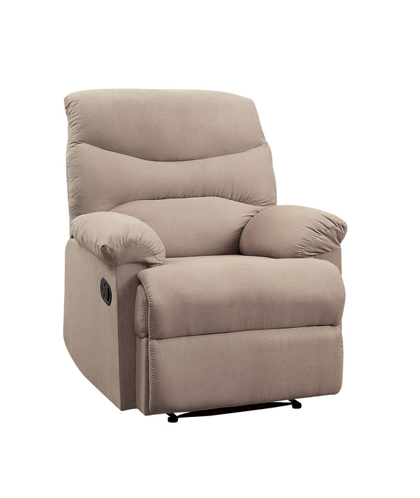 Arcadia Beige Woven Fabric Recliner (Motion)