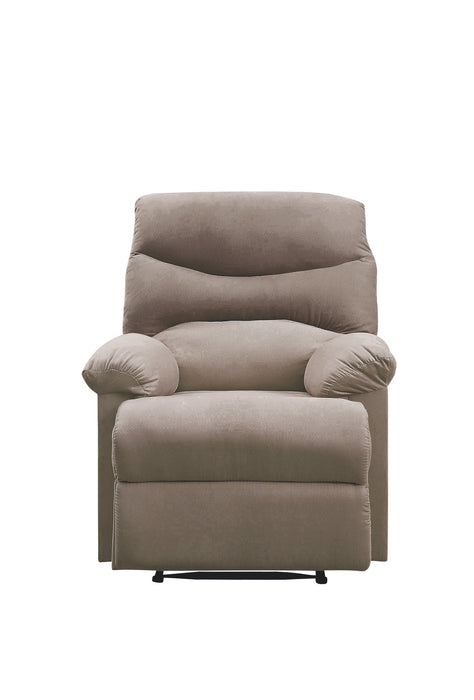 Arcadia Light Brown Woven Fabric Recliner (Motion)