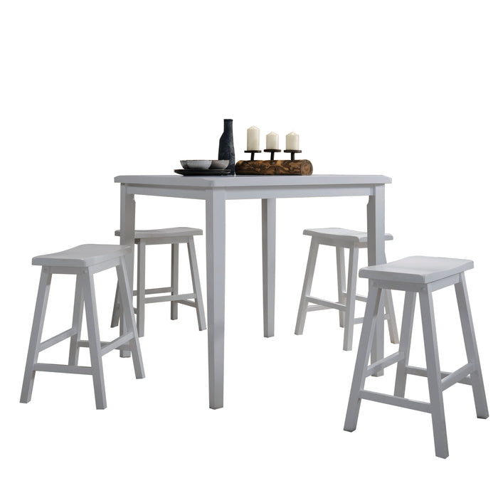 Gaucho White Counter Height Set (5Pc Pk)