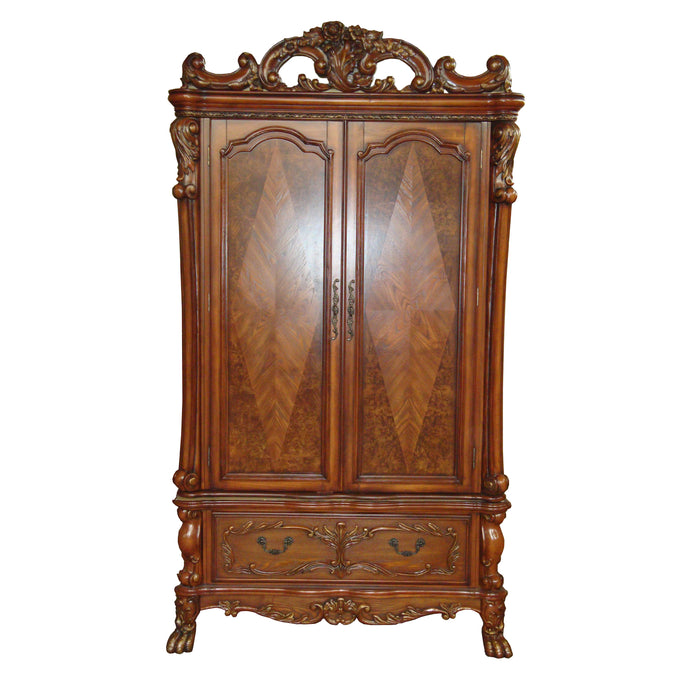 Dresden Cherry Oak TV Armoire