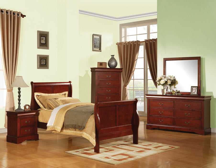 Louis Philippe III Cherry Full Bed
