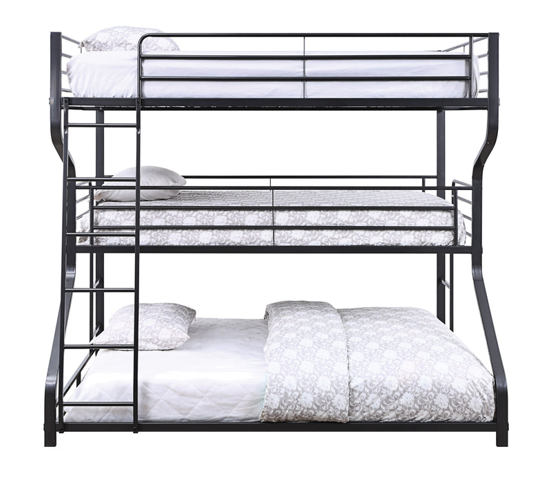 Caius II Gunmetal Bunk Bed (Triple Full/Twin/Queen) image
