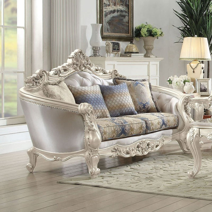 Acme Furniture Gorsedd Loveseat in Antique White 52441 image