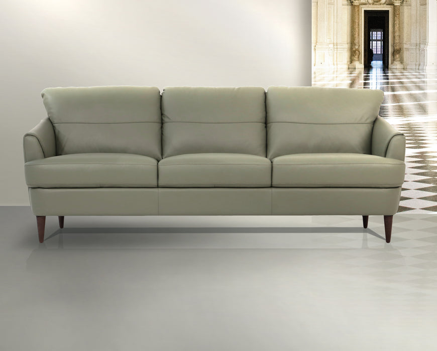 Helena Moss Green Leather Sofa image