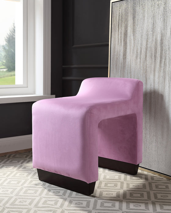 Alford Pink Flannel Ottoman image