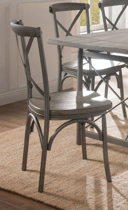 Acme Furniture Kaelyn II Side Chair in Gray Oak and Sandy Gray (Set of 2) 60122 image