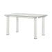 Gordie White & Clear Glass Dining Table image