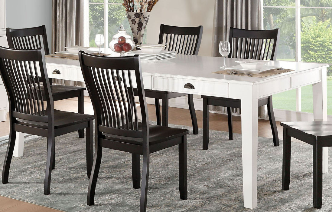 Acme Furniture Renske Rectangular Dining Table in Antique White 71850 image