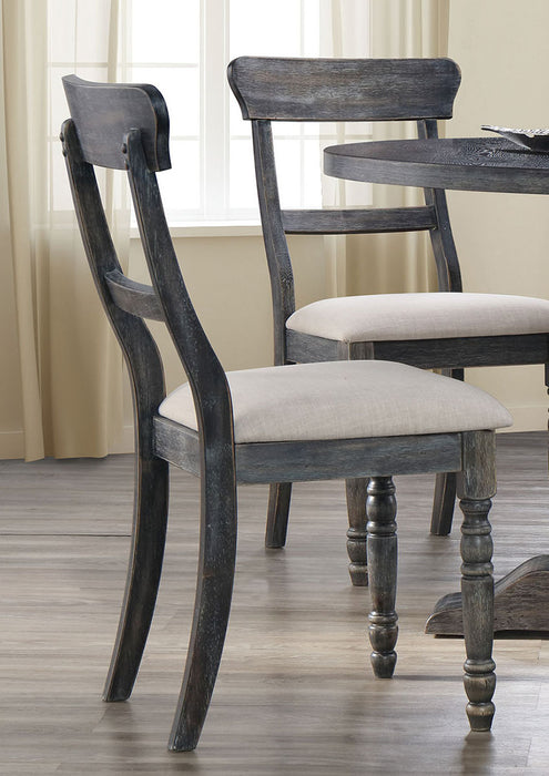 Acme Furniture Wallace Side Chair in Light Brown and Weathered Gray (Set of 2) 74642 image
