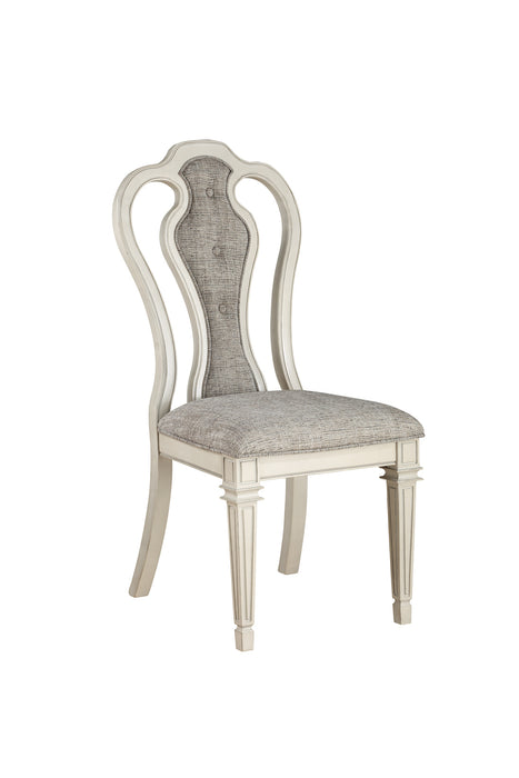 Kayley Linen & Antique White Side Chair image