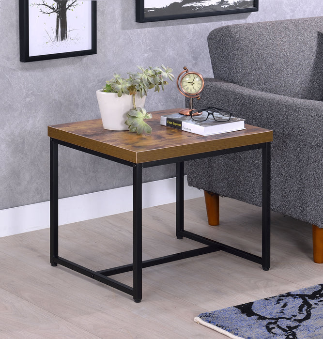 Bob Weathered Oak & Black End Table image
