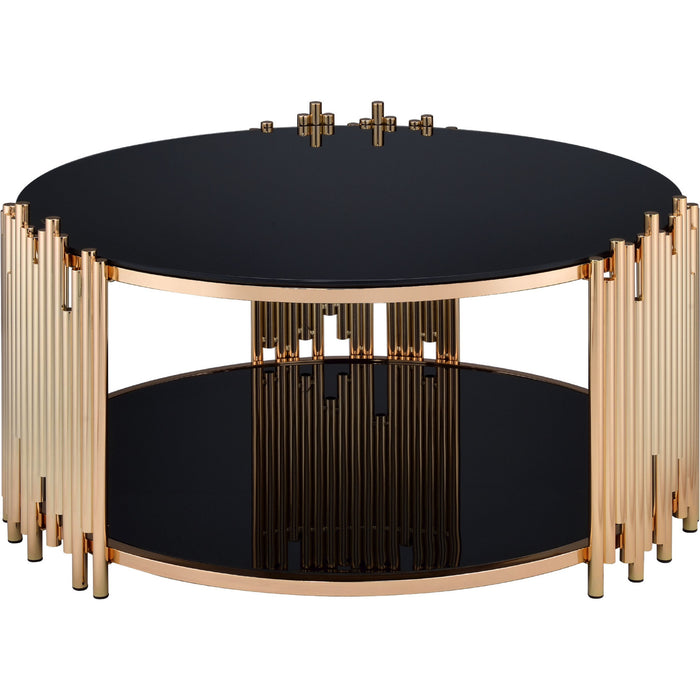Acme Furniture Tanquin Coffee Table in Gold/Black 84490 image