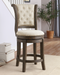 Glison Beige Fabric & Walnut Bar Chair (1Pc) image