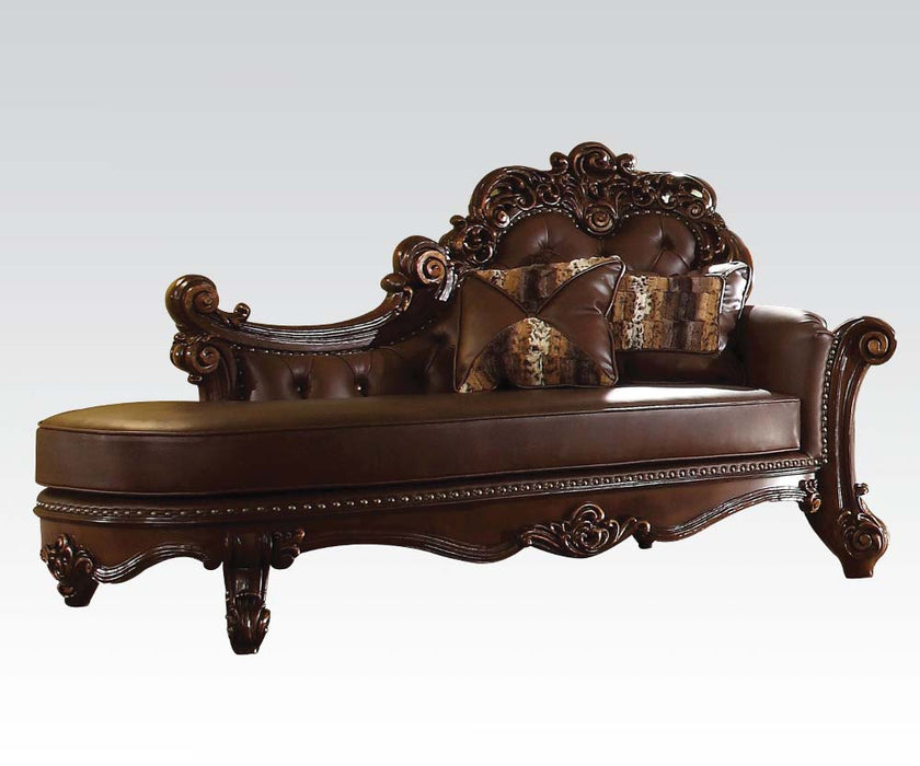 Acme Vendome Chaise in Cherry 96491 image