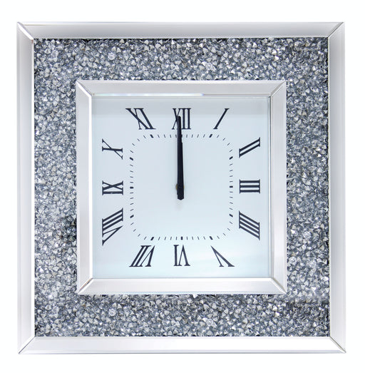 Noralie Mirrored & Faux Diamonds Wall Clock image