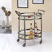 Lakelyn Black Nickel & Clear Glass Serving Cart image