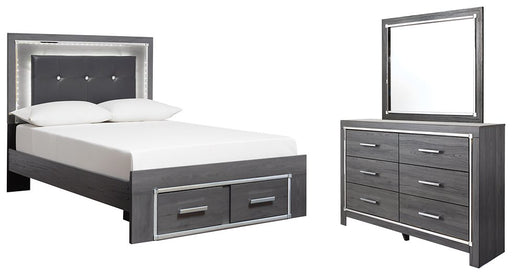 Lodanna Signature Design 5-Piece Bedroom Set with 2 Storage Drawers image