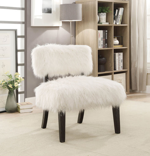 Pardeep White/Black Accent Chair image