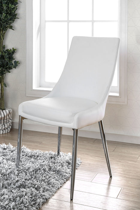 Izzy Silver/White Side Chair, White (2/CTN) image