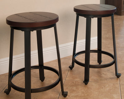 Challiman Signature Design by Ashley Barstool Set of 2