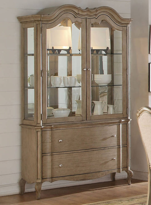 Acme Chelmsford Hutch and Buffet in Antique Taupe 66054 image